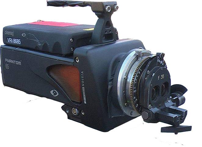 Цифровая камера Phantom 65 c установленным объективом Стерео-70 F-35mm